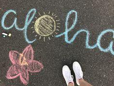 sidewalk art vsco Street Art, We're sharing an Easy Sidewalk Chalk Art project that anyone can do. This Mosaic Sidewalk Chalk , Chalk Art Quotes, Vsco, Chalk Design, Sidewalk Chalk Art, Sidewalk Ideas, Chalk Wall, Art Disney, Summer Aesthetic, Belle Photo