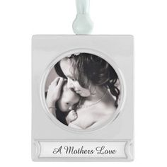 Add Your Baby Family / Wedding Photo Personalized Add your Special photograph to this beautiful ornament. What a great DIY keepsake. Makes a wonderful holiday gift. This placeholder photo features a beautiful black and white mother and baby photo. #mother #ornament #baby #personalized #wedding  A high resolution photo will work best to give you beautiful results. You could also add any other special photo - engagement, wedding anniversary, graduation, Christmas, new baby, vacation or…