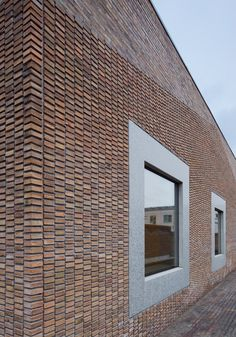 Image 17 of 17 from gallery of Norrtälje Mortuary / LINK arkitektur. Photograph by LINK arkitektur Brick Cladding, Brick Facade, Exterior Cladding, Brick Design, Facade Design, Design Design, Brick Works, Brick Detail, Brick Texture