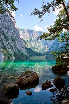 Das ist Obersee in die Nationalpark Berchtesgaden. Es ist die einzigen deutschen Nationalpark in den Alpen.
