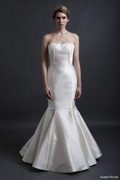 sareh nouri spring 2016 bridal ingrid strapless mermaid wedding dress