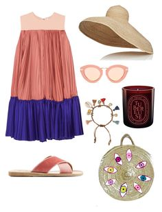Summer one by thegoods2103 on Polyvore featuring polyvore, fashion, style, Roksanda, Ancient Greek Sandals, Chan Luu, Lola, Karen Walker, Diptyque and clothing