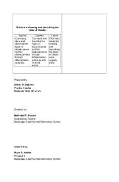 Detailed lesson plan in Science III Basic Types of Clouds 4a's Lesson Plan, Lesson Plan Outline, Lesson Plan Examples, Daily Lesson Plan, Science Lesson Plans, Science Lessons, English Lesson Plans, English Lessons, Central Elementary School