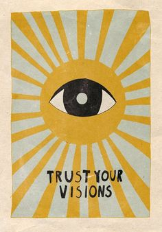 Trust your visions Mini Art Print by Asja Boros - Without Stand - 3 Hippie Kunst, Art Hippie, Hippie Drawing, Collage Mural, Photo Wall Collage, Pic Collage Ideas, Collage Pictures, Wall Prints, Poster Prints