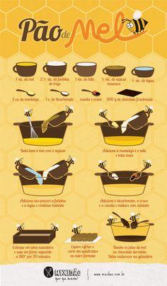 Honey Bread - a Brazilian staple! Portuguese Recipes, Food Illustrations, Sweet Life, Diy Food, Food Hacks, Food Inspiration, Love Food, Sweet Recipes, Cupcake Cakes