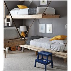 Janey Mac: Built In Bunk Beds found on Polyvore