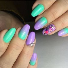 Great gallery of unique nail art designs of 2020 for any season and reason. The best images and creative ideas for your nails. Purple Nail Designs, Best Nail Art Designs, Nail Designs Spring, Nail Art Design 2017, Nail Art Design Gallery, Matte Purple Nails, Red Nail, Gradient Nails, Ongles Gel Violet