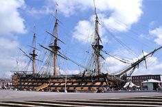 HMS Victory in Portsmouth Historic Dockyard. Lord Nelsons Flagship.