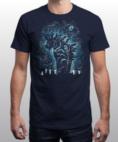 """""""Spirits in the Night"""" is today's £8/€10/$12 tee for 24 hours only on www.Qwertee.com Pin this for a chance to win a FREE TEE this weekend. Follow us on pinterest.com/qwertee for a second! Thanks:)"""
