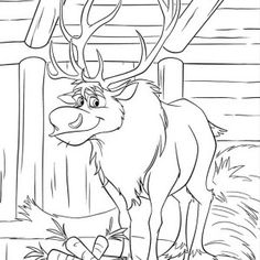 frozen coloring pages baby sven and kristoff jason aldean buck