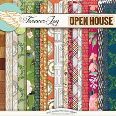 Digital Scrapbooking Kit - OPEN HOUSE | ForeverJoy Designs