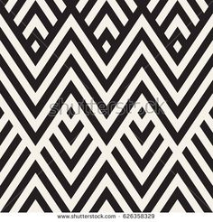 Abstract ZigZag Parallel Stripes. Stylish Ethnic Ornament. Vector Seamless Pattern. Repeating Monochrome Background