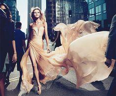 Elie Saab gold dress. Magnificent. She looks like a goddess.