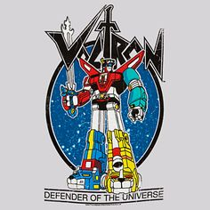 Voltron: Defender of the UniverseT-shirt. My flashback to the 80's guilty pleasure :)