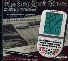 The New York Times Electronic Crossword Puzzle by Excalibur Electronics USA. $12.45. Large LCD screen. Full QWERTY keyboard. ENJOY THE TOP CROSSWORD PUZZLES FROM THE NEW YORK TIMES! Now you can take crossword puzzles anywhere you go without paper or pencil with the Excalibur New York Times Electronic Crossword Puzzle. Excercise your brain with hundrets of top crossword puzzles from the Times. This electronic crossword puzzle features a large easy to read LCD display and a fu...