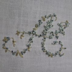 Vintage Ladies Handkerchief Hand Embroidery Monogram A