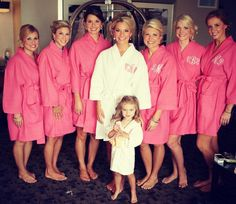Getting ready shot with monogrammed robes!