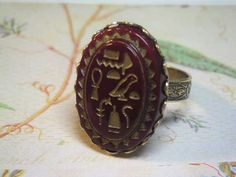 Glass Egyptian Ring