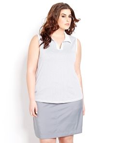 The fairway is your runway. Nola Golf from Addition Elle plus size fashion now