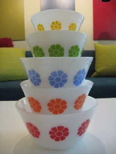 Federal Glass mod flower bowls