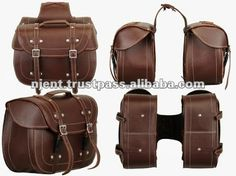 Leather Saddle Bag for motorbike  Horse