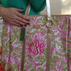 Obsessed with my new monogramed Lilly bag!