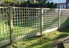 wooden trellis fencing - Google Search