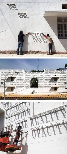 Indian artist Daku's clever art installation Time Changes Everything is an innovative twist on mural art.