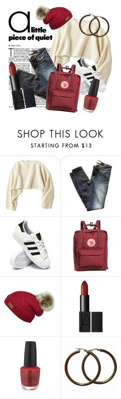 """""""Cozy winter"""" by rmarie2001 ❤ liked on Polyvore featuring Uniqlo, Marc by Marc Jacobs, adidas, Fjällräven and OPI"""