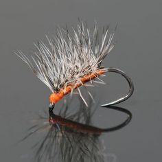 orange asher midge cluster pattern