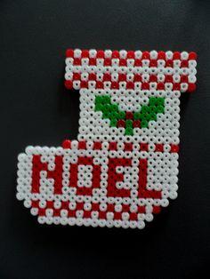 Déco Noël Chaussette en perle Hama