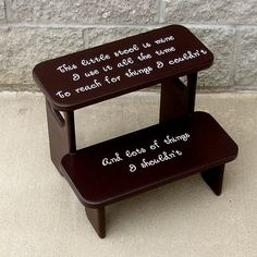 Espresso Brown This little Stool Is Mine by GreatCustomFurniture, $55.00