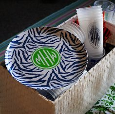 Find great deals on brands like Dabney Lee at Home monogrammed items to spruce up your dorm room! Get Preppy College Dorm Room Ideas like this on Uscoop.com!