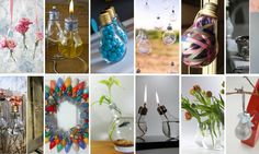 No post de hoje vou mostrar várias maneiras que as lâmpadas recicladas podem ajudar a decorar de forma original e delicada. Sim, uma lâmpada, aquela simples que tem na sua casa, que vai direto para o lixo assim que deixa de funcionar, esta lâmpada você pode reciclar de várias maneiras, como, por exemplo, um vaso de plantas, velas, objeto decorativo, etc. Veja as fotografias inspiradoras que selecionei para você. DIY: Decoração com lâmpadas...