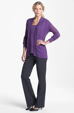 Amber Sun Cardigan & Tank, NYDJ Ponte Trousers  available at #Nordstrom