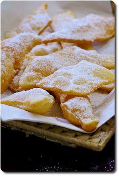 Les Frappe (ou Chiacchiere), beignets de carnaval italiens (version de ma grande-mère)
