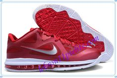 Lebron 9 Low Lebron James IX Team Red Burgundy Red Wolf Grey 469765 001-A new sample of Lebron 9 Low