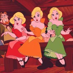 beauty and the beast Gaston lovers| Silly girls| Triplet girls|