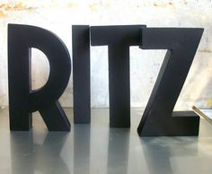Vintage Puttin on the RITZ Upcycled Marquee Letters via Etsy