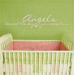 Angelic Baby Nursery | Baby Angel Wall Stickers and Decals with Inspirational Guardian Angel ...