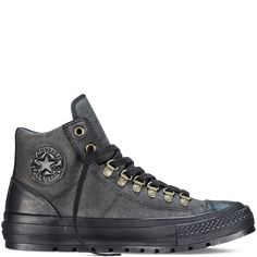 Converse - Chuck Taylor All Star Street Hiker - Black - Hi Top Galaxy Converse, Converse All Star, Converse Store, Converse Chuck Taylor All Star, Converse Shoes For Men, Adidas Shoes, Me Too Shoes, Men's Shoes, Shoe Boots