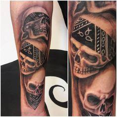 3 totenköpfe seh nichts- hör nichts- sag nichts by @sonjaobermoser Skull, Tattoos, Art, Art Background, Tatuajes, Tattoo, Japanese Tattoos, Kunst, Gcse Art