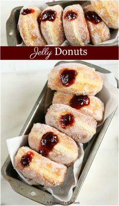 Köstliche Desserts, Delicious Desserts, Dessert Recipes, Sweet Desserts, Brunch Recipes, Breakfast Recipes, Homemade Jelly, Homemade Donuts, Homemade Recipe
