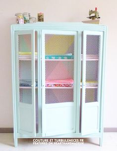 Pastel painted armoire