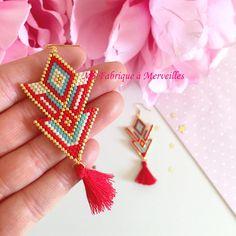 Beaded Earrings Native, Seed Bead Earrings, Unique Earrings, Tassel Earrings, Bead Jewellery, Beaded Jewelry, Beaded Bracelets, Brick Stitch Earrings, Diy Jewelry Inspiration