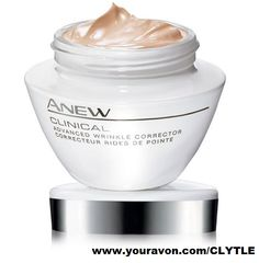 Anew Clinical Advanced Wrinkle Corrector $28. Ever had to decide between removing wrinkles or plumping your skin? Get the best of both worlds with Anew Clinical Advanced Wrinkle Corrector. 4D Wrinkle-Reverse Technology visibly improves skin's appearance and life by increasing elasticity. Get skin's youthful fullness with this facial cream's plumping formula. #ShopFromHome #ILoveAvon #Avon #Anew #Skincare Get it at