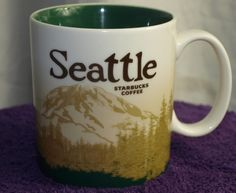 Starbucks Seattle 2008 RARE Mt. Rainier Global Icon mug Collector Series #Starbucks. Seller paid a whole 0.45¢ for this. Now that's some crazy profit!