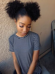 Big afro puff hairstyles & tutorials. All styles, big, faux, two tutorials with scarf designs on natural curly hair.