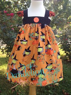 Halloween tunic dress Dandelion Fluff Boutique Like and follow us on Facebook