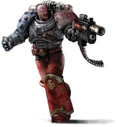 A Chaos Space Marine wearing Power Armour taken from many different patterns and sources Chaos Daemons, Combat Armor, The Horus Heresy, Warhammer 40k Art, Space Marine, Toy Soldiers, Fantasy Artwork, Marines, Character Inspiration